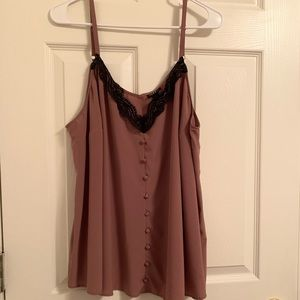 Walnut Chablis and Lace crop cami size 2 torrid